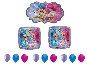 Shimmer and Shine Beautifull Balloon set with Latex! girls, birthdays, parties, events, princess, bouquet, sets