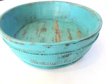 Painted wood home decor bowl bucket You choose the color