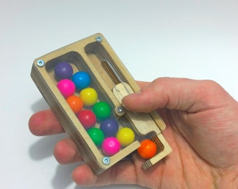 Pocket Sized Wooden Gumball Machine