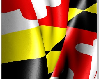 Maryland Flag Wavy Cornhole Wrap Bag Toss Decal Baggo Skin Sticker Wraps