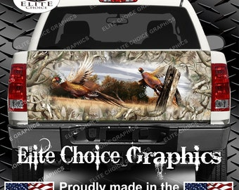 Ringneck Pheasant Obliteration Buck Camo Truck Tailgate Wrap Vinyl Graphic Decal Sticker Wrap