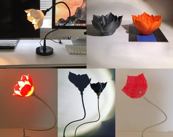 3D printed Lotus Table Lamp