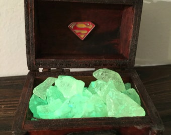 Superman kryptonite art keepsake box, Superman art box chest, Superman decor, Superman gift, Superman symbol, superman pin
