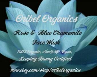 Rose & Blue Chamomile Face Wash/ Rosacea/Acne/Problem skin/ Oribel