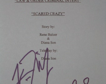 Law and Order: Criminal Intent Signed TV Script Screenplay X3 Autographs CI Vincent D' Onofrio Kathryn Erbe Jamey Sheridan signatures