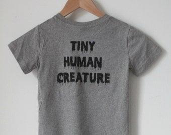 TINY HUMAN creature organic cotton kids tee