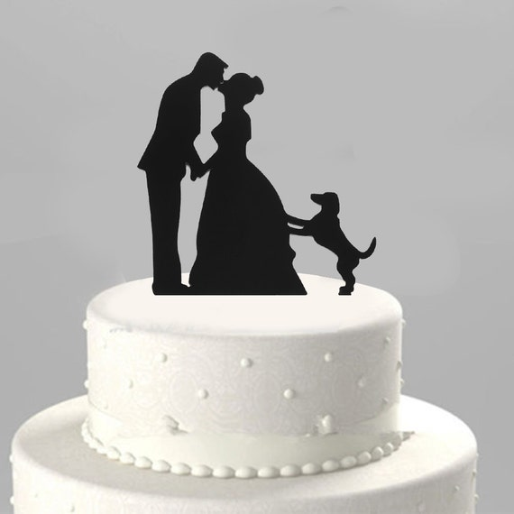wedding cake toppers bride groom and dog groom amp wedding cake topper decorating by exoticbuy 26422