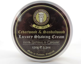 Shaving Cream Cedarwood & Sandalwood 150g / 5.3oz by Sweyn Forkbeard