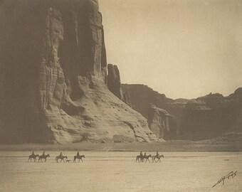 Canyon de Chelly - Edward Curtis - 1904 - Pueblo - Photo - Print - Photography - Vintage - Native American - Photograph- Antique - AZ