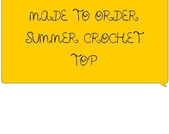 Made to order crochet summer crop tops!
