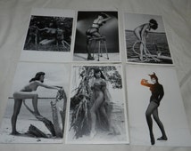 Mature - Betty Page Pin-up Model post cards - Lot of 6 Postcards with Vintage Nude Images - copyright 1996 - images from 1955-57        2-12