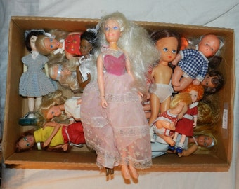 Lot of 16 Dolls + Parts - Barbie + Others For Found / Altered / Assembled / Collage / Mixed Media and Other Art - Art + Craft Supplies 28-C