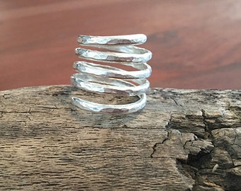 Hammered Coil Ring