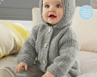 Knitted baby hoodie Etsy