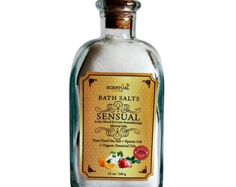 BATH SALT- Sensual Bath Salt-Relaxing Bath Salt- Birthday Gift- Gifts for Her- Gifts for Him- Gift for Mom- All Natural