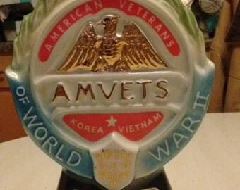 Amvets Decanter Jim Beam