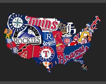 MLB United States map