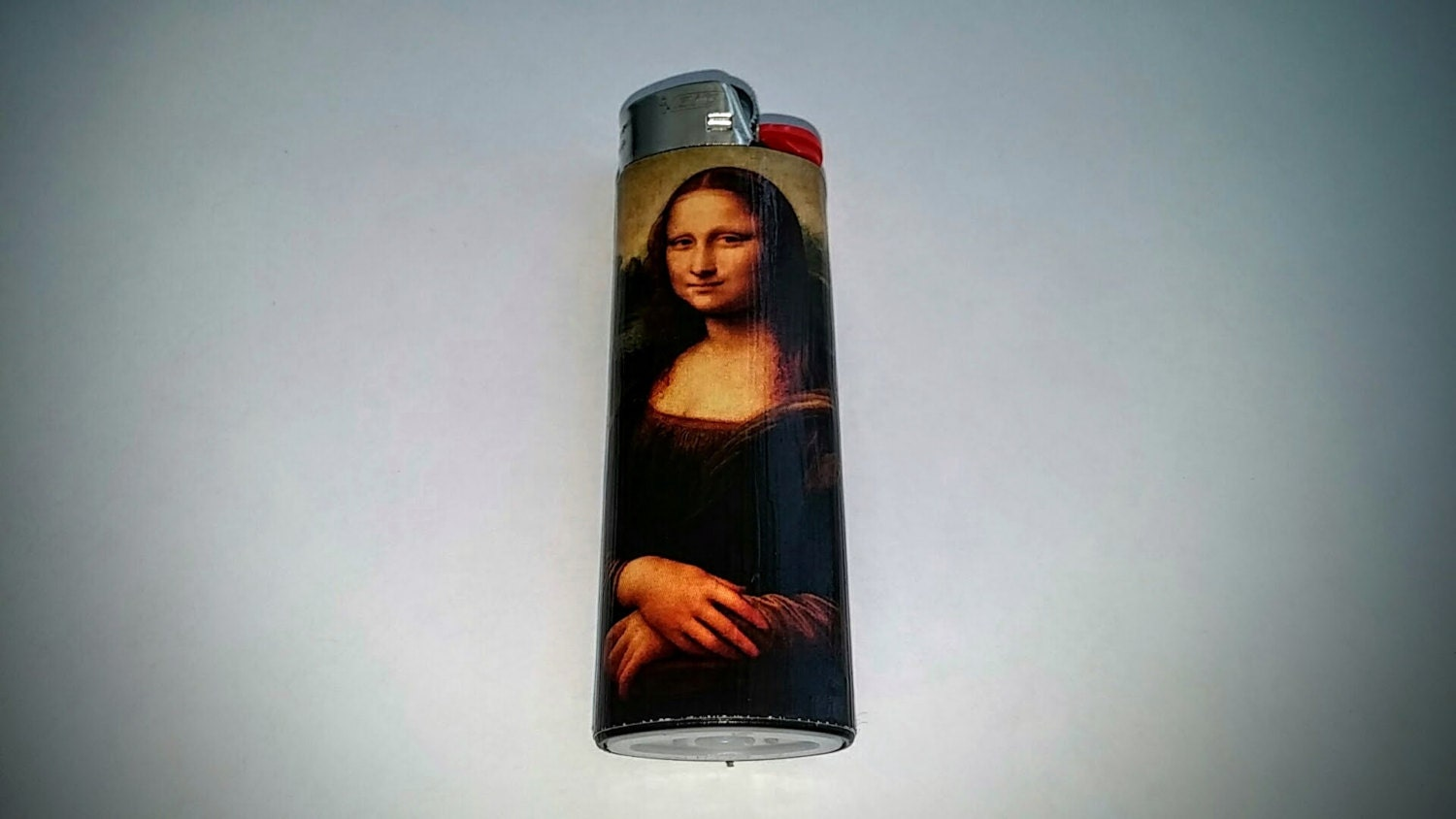Mona lisa by leonardo da vinci custom lighter for Can you buy the mona lisa
