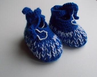 bio hand wool baby booties