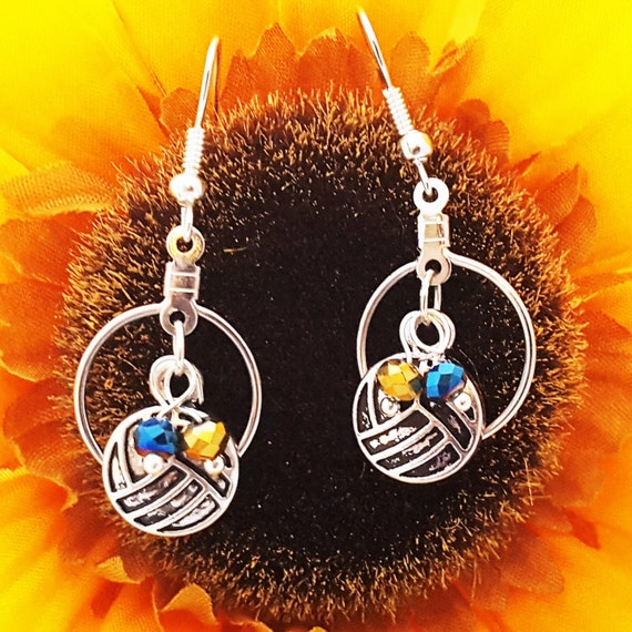 Volleyball Earrings, Volleyball Team Gifts, Volleyball Jewelry, Volleyball Charms, Sports Charms Jewelry, Volleyball Coach Gift, Bulk Charms