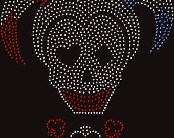 skull Harley Quinn inspired crystals