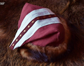 Viking hat with fur