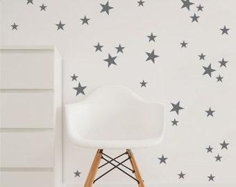 Star Wall Decal, 3 Size Stars Decal Set, Kids Wall Decoration, Nursery Wall Part 55