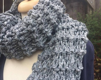 Salt and Pepper Recycled Textile Scarf