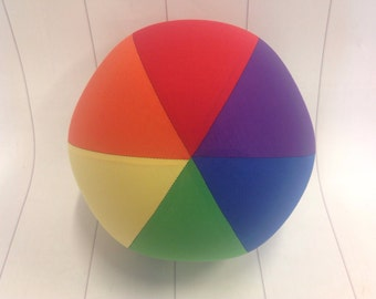 Balloon Ball Cover 30cm Round, Rainbow panels, Eumundi Kids