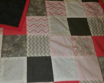pastel-modern- baby-toddler- quilt- baby shower gift