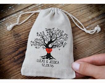 Personalized ring bearer bag, Wedding ring bag ,personalized ring holder, ring bearer pillow alternative, tree ring bag ,drawstring bag TB10