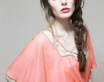 coral maxi-dress