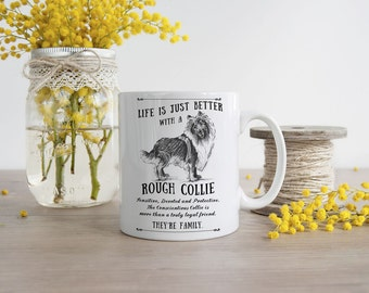 Rough Collie Mug ~ Perfect Gift can be personalised
