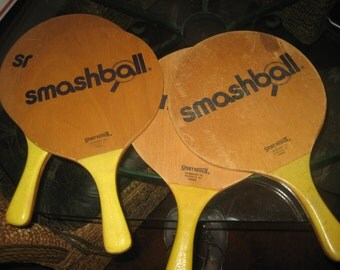 Four Smashball Paddles