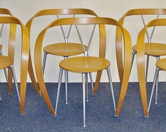 "Cassina "" Revers "" chairs by Andrea Branzi"