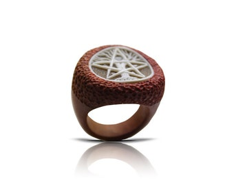 Pink ivory ring 5 Elements