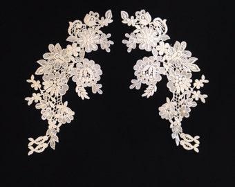 Alencon Lace Applique | Bridal Gown | Wedding Gown | Ivory | Lace | Trim