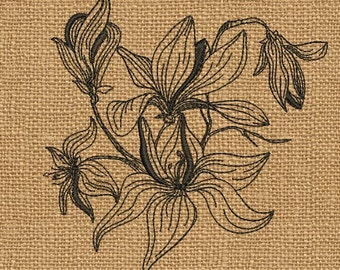 Flowers - MACHINE EMBROIDERY DESIGN