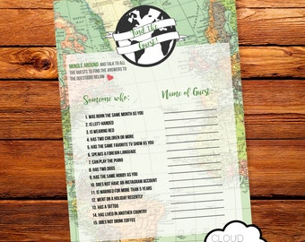 Find The Guest // Baby Shower Game // Oh the places you'll go! // World Map // Printable