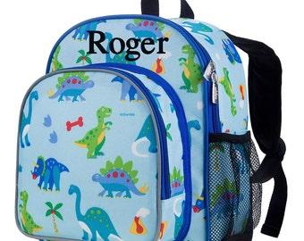 Personalized Preschool Backpack. Monogrammed Dino Land Backpack. Preschool Backpack. Daycare Backpack. Dinosaur Backpack. Dino Bookbag. 214