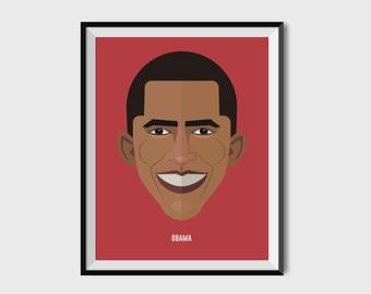 BARACK OBAMA illustration / Poster