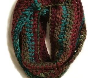 Handmade Chunky Crochet Infinity Scarf