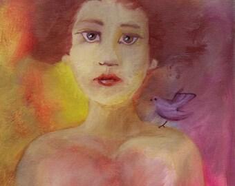 The Bird, Original Oil Painting