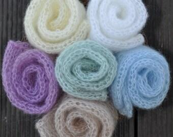 Loose Knit Mohair wrap, Newborn Mohair Wrap, Layering Blanket, Soft Posing Wrap, Baby Girls Boys Wrap, Photography Prop