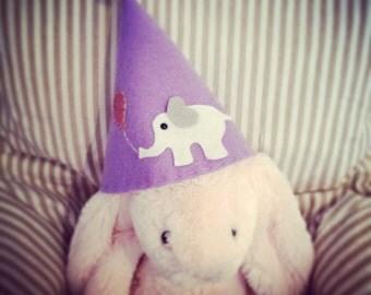 Girls elephant party hat