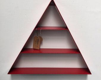 Red Triangle Shelf Wall Decoration, Hanging Modern Decor