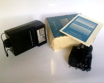 SALE 20% OFF Vintage Soviet Camera Flash Light Elektronika B5-24 with Original Box and Manuals, Retro Photograohy Tool - made in USSR 80s