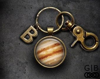Jupiter Keychain Planet Accessories Jupiter Keyring - Planet Jupiter Gift Keychain - Planet Jupiter Keychain - Planet Jupiter Keyring