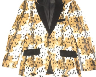 "Angelino ""Ghazal"" Leopard-Print Blazer"