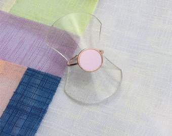 Enamel ring - Contemporary jewellery. Gift for her.  Friendship gift. Girlfriend gift  - PIVOINE  (P0121/P0125)
